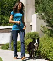 woman-walking-dog